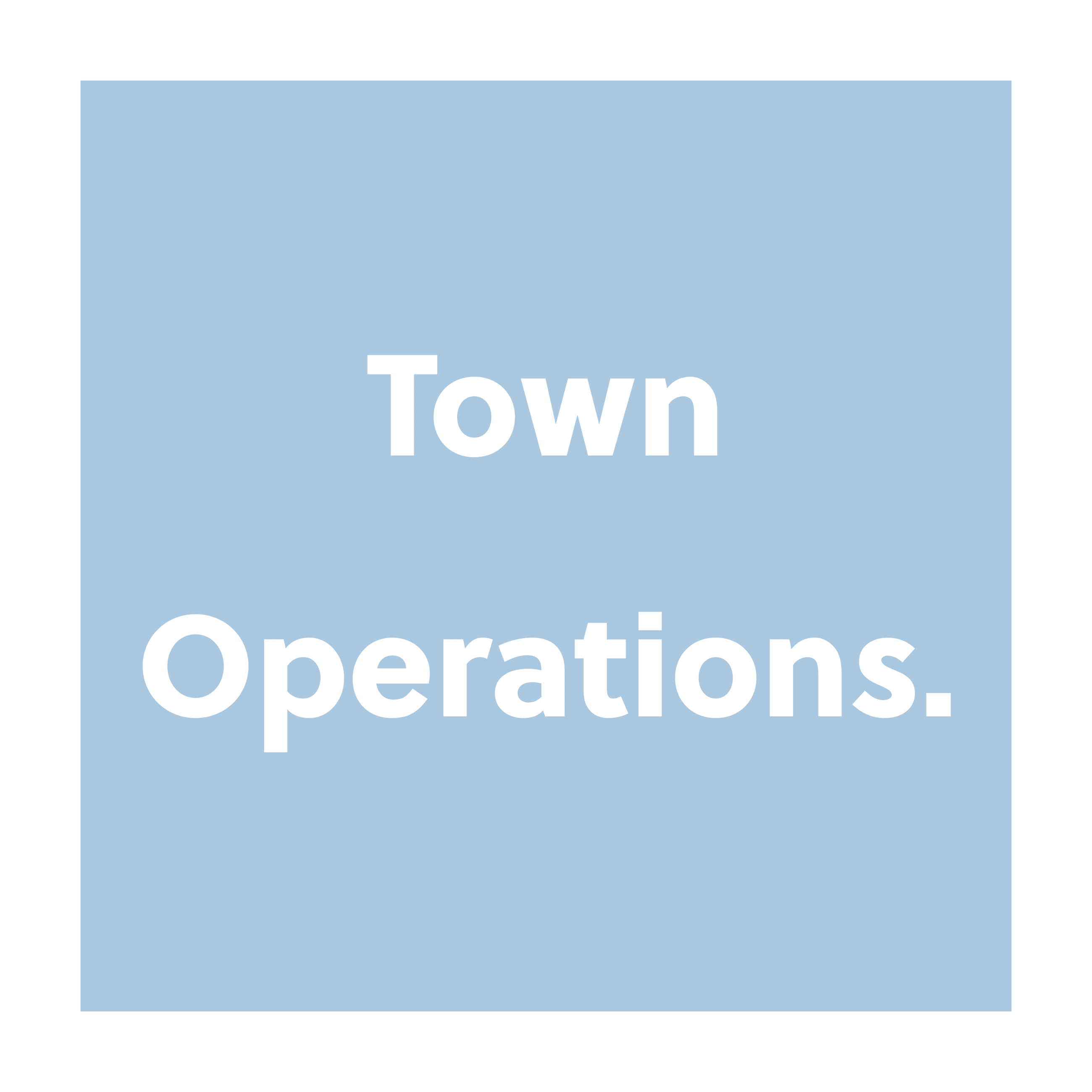 Continuity of Town Operations