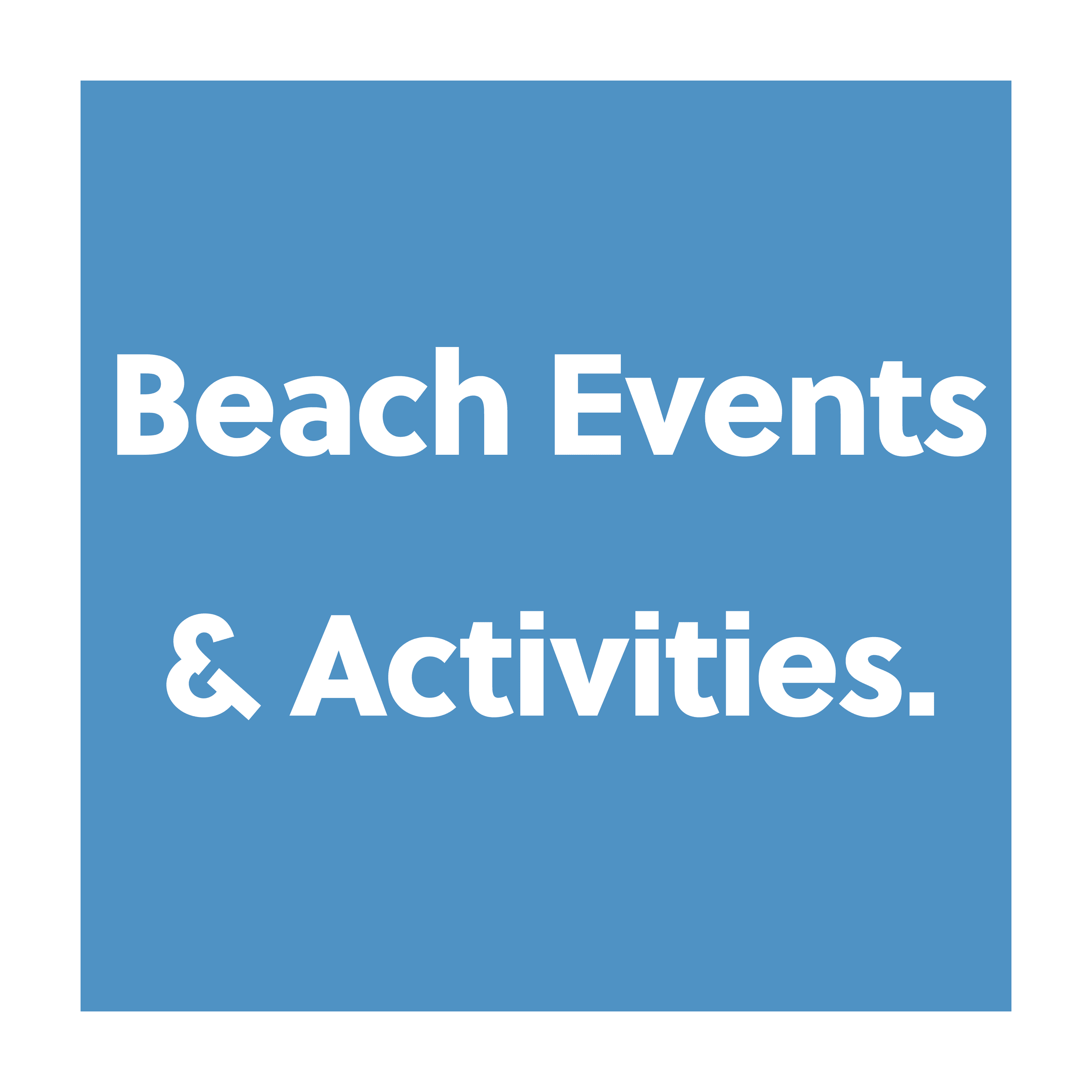 Beach events and activities